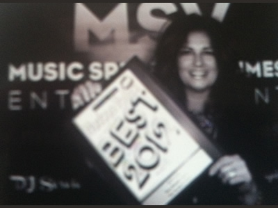 Toni with Best of the Hudson 2012 Award