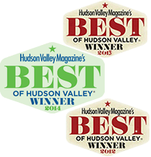 Best of Hudson Valley Winner for 2013 AND 2012!!