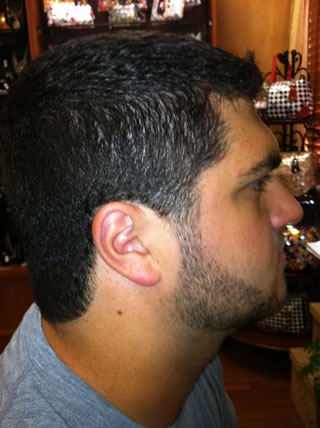 Men's cut side view
